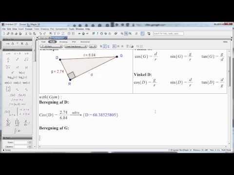 Beregning af arealet af en trekant from YouTube · Duration:  3 minutes 57 seconds