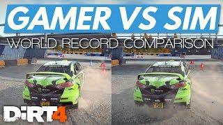 DiRT 4│Gamer vs Simulation World Record Comparison (This Ain't Right...)