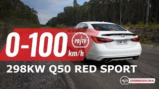2018 Infiniti Q50 Red Sport 3.0t 0-100km/h & engine sound