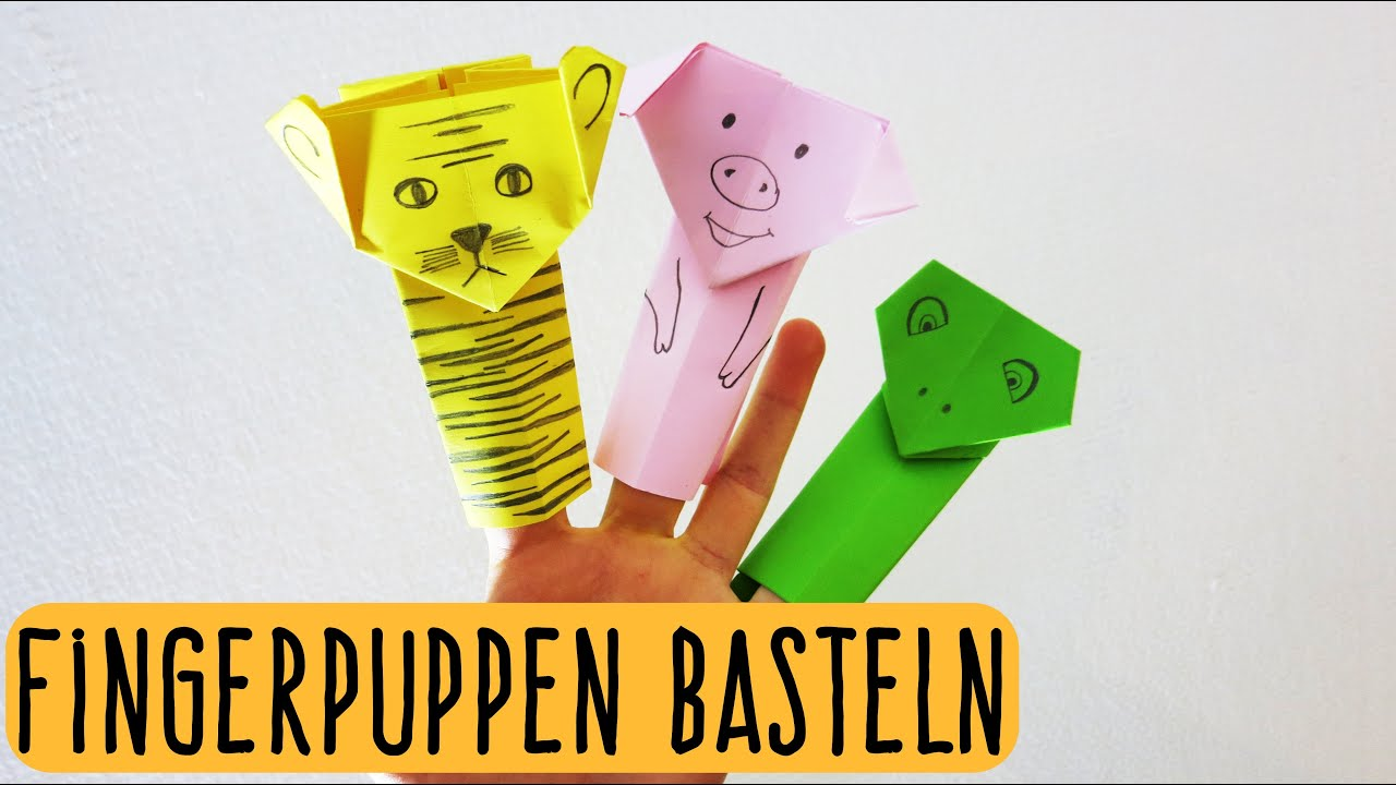fingerpuppen aus papier basteln falten origami kindertipp easy kids crafts youtube. Black Bedroom Furniture Sets. Home Design Ideas