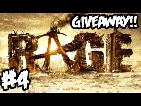 RAGE Walkthrough Part 4 HD - GIVEAWAY!! - The Car Hunt Begins! (Xbox 360/PS3/PC Gameplay)