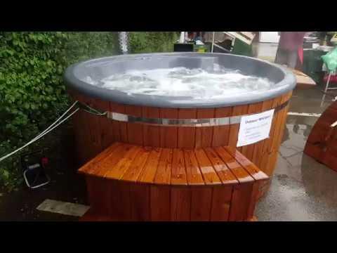Badetonne Badefass Badezuber Hotpot Von Garten Wellness 24de Youtube