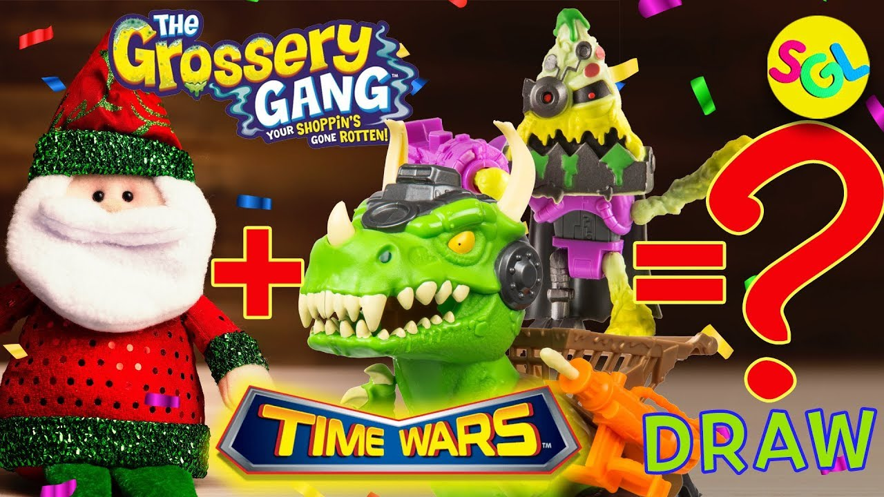 Draw Color Grossery Gang Time Wars Movie Cyber Slop Pizza Dinosaur Christmas Coloring Page Youtube