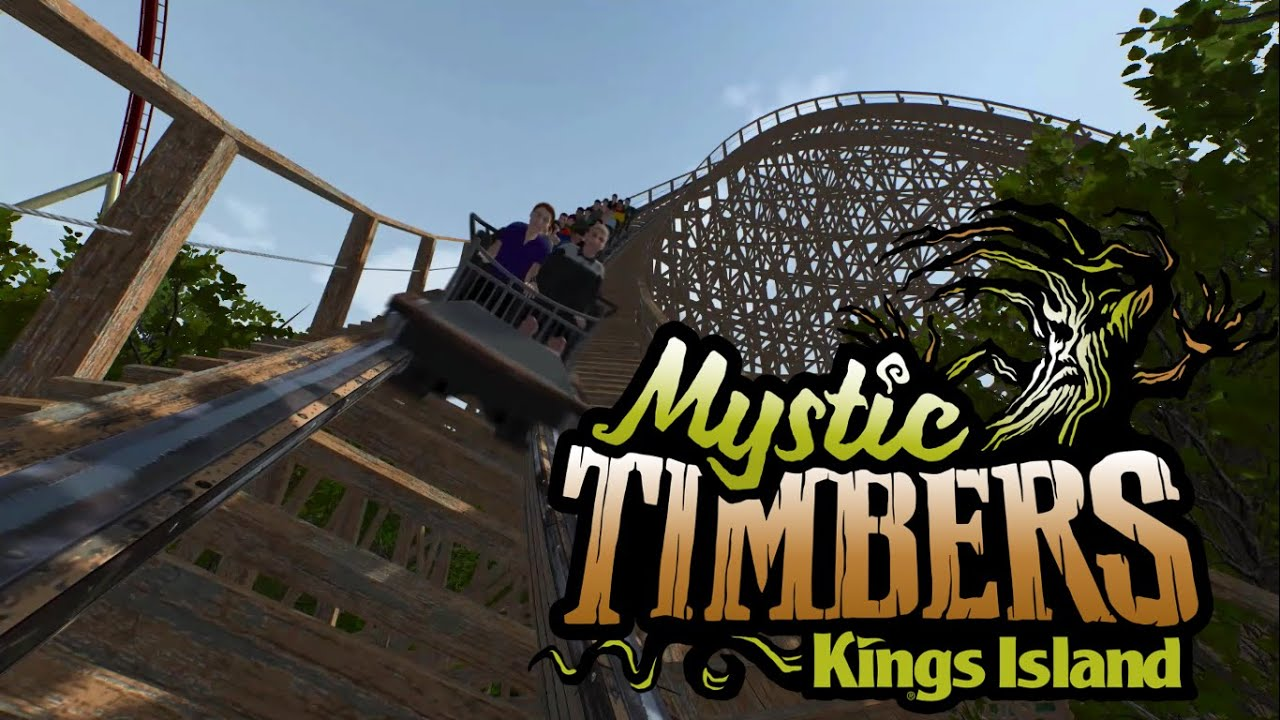 Mystic timbers animated ride footage whatsintheshed kings island new for 2017 wood coaster