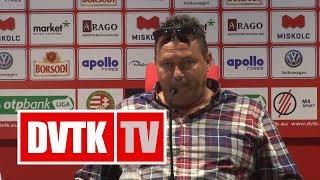 Tóth László értékelése | DVTK - Mezőkövesd | 2018. május 5. | DVTK TV