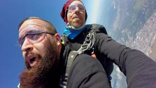 Jumping out of a plane from twelve thousand feet