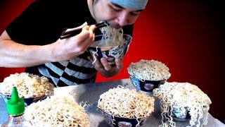 Repeat youtube video Crazy Ramen Eating Stunt (5.09kg)