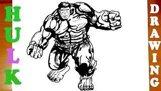 avengers hulk easy marvel draw superheroes