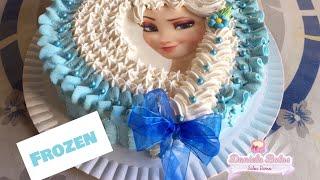 Confeitando bolo da Frozen c/ papel arroz especial
