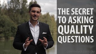 How to Ask G๐od Questions with Colin Boyd