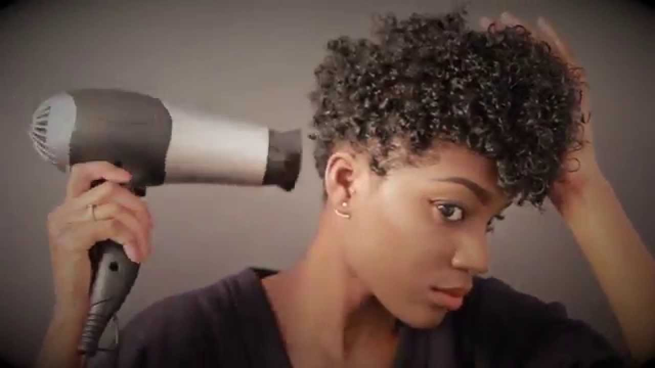 Styling Tapered Natural Hair Natural Hair Style Wash & Go On Tapered Cut Tutorial  Talk .