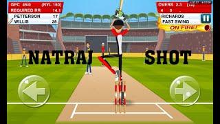 NATRAJ SHOT IN STICK CRICKET 2 | STICK CRICKET 2 GAME PLAY 2020 |