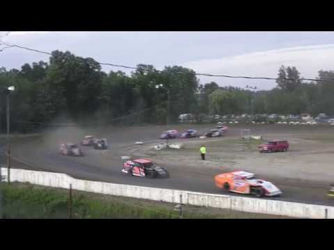 B-Mods Heat Race #1 at Mt. Pleasant Speedway, Michigan on 07-26-2019!