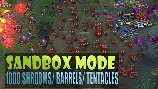 1000 TEEMO SHROOMS - Practice Sandbox Mode Gameplay League of Legends (GP Barrels, Illaoi Tentacles)