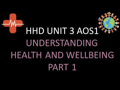 VCE HHD UNIT 3 AOS1 UNDERSTANDING HEALTH AND WELLBEING PART 1