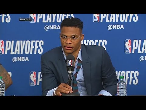 Russell Westbrook Gets Angry At Ricky Rubio Questions After Failing To Shut Him Down!