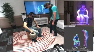 Holoportation: Virtual 3D Teleportation in Real-time