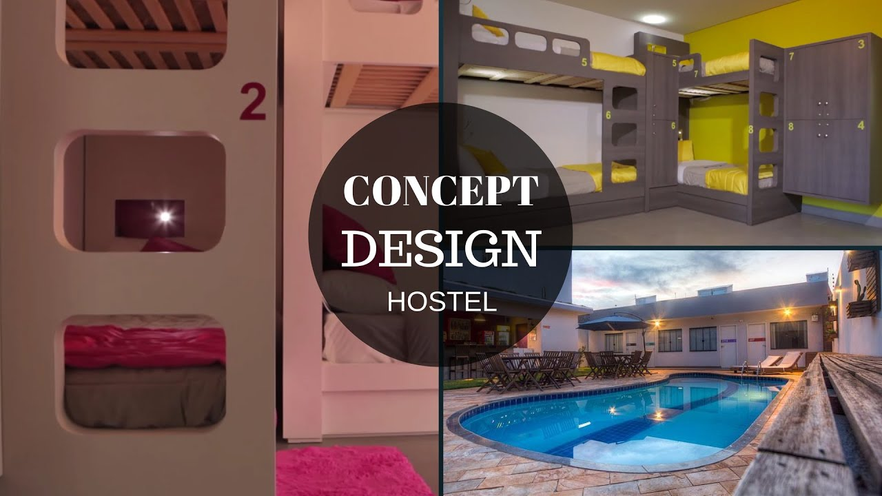 Concept design hostel iguassu brazil youtube for Decor do hostel
