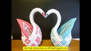 3d Origami Swan Model 5