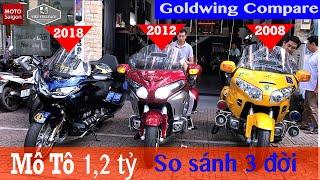 Honda Goldwing - So sánh siêu xe 1,2 tỷ qua 3 thế hệ khác nhau
