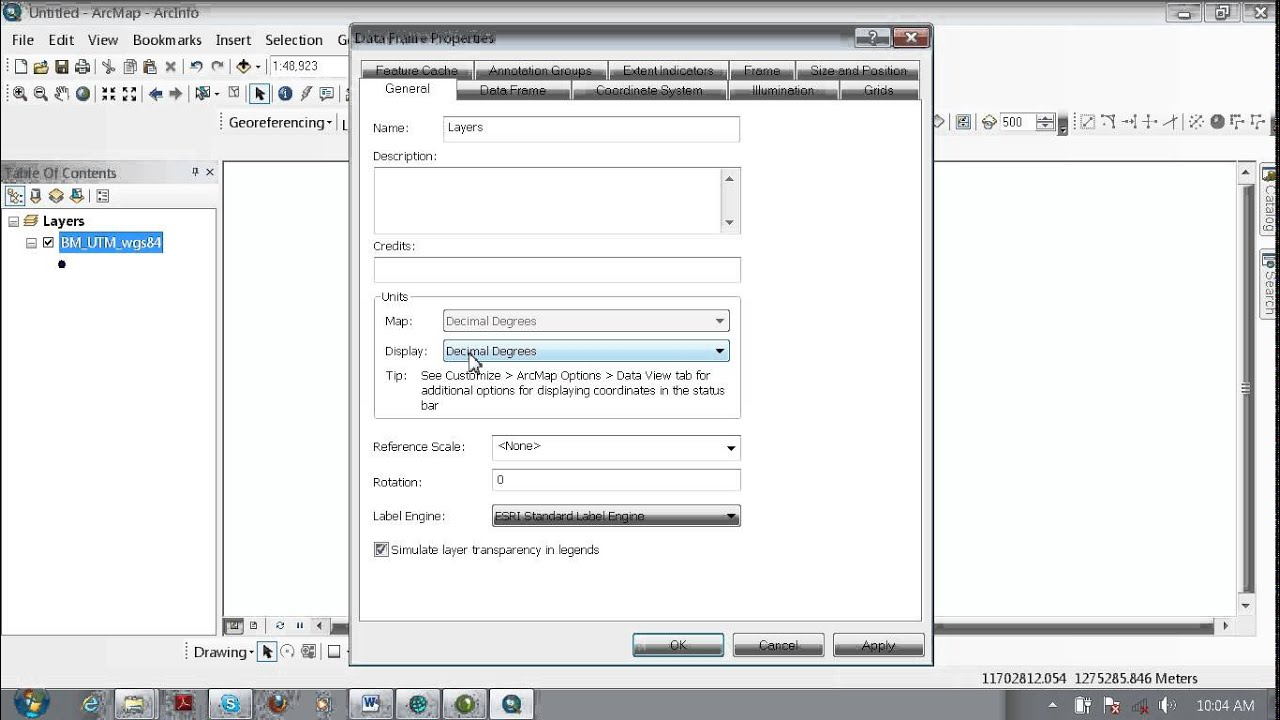 How to Convert UTM to Decimal Degree for ArcGIS10 0 Khmrer Video
