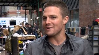 Adorable Phrase That Stephen Amell Tells His Daughter | TMNT 2