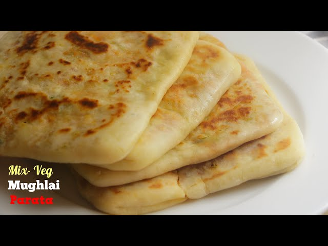 MUGHLAI VEG PARATA|Parata Recipe|ముగలాయ్ వెజ్ పరాట|లంచ్ బాక్సులకి పర్ఫెక్ట్ పరోటా|VismaiFood