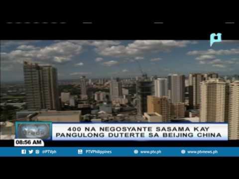 PTV NEWSBREAK: Halos 400 negosyante, nais sumama kay Pres. Duterte sa Beijing, China