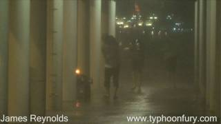 Typhoon Koppu Blasts Hong Kong - James Reynolds Insane Storm Chaser Footage