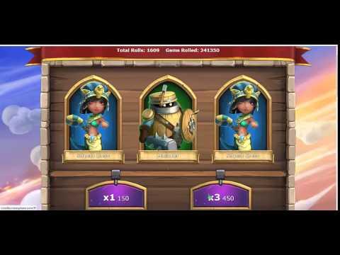 Castle Clash Rolling 500000 Gem A Lot Legendary Hero