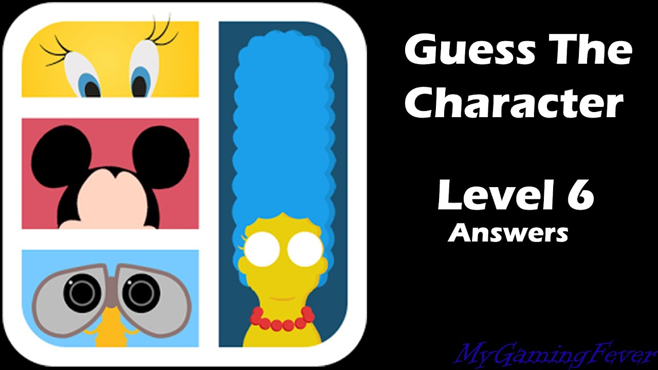 Cartoon Characters Level 6 : Guess the cartoon character answers level
