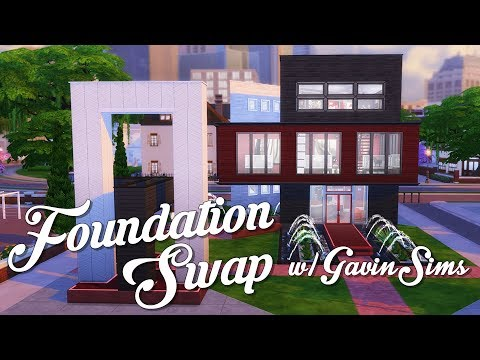 Modern Art Gallery | Foundation Swap w/@gavinsims0 | Sims 4 Speed Build | @PenappleYT