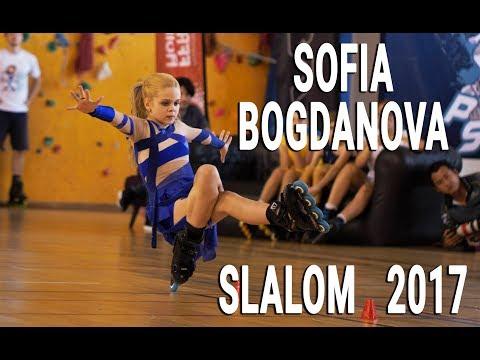 Freestyle slalom skating - Sofia Bogdanova - PSWC 2017 - Amazing classic run!