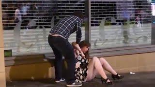 Bank holiday weekend  Drunken carnage in Newcastle captured
