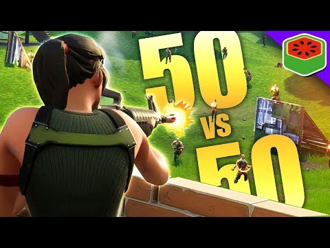 AMAZING NEW 50 VS 50 GAME MODE! | Fortnite Battle Royale