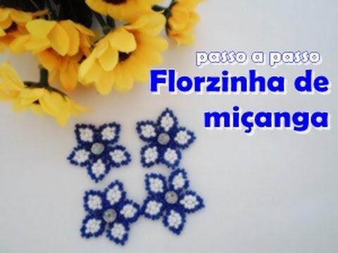 NM Bijoux - Florzinha de miçanga - passo...