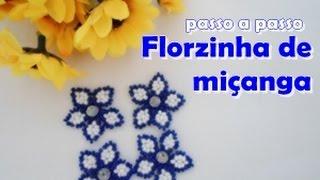 Florzinha de miçanga – passo a passo com Núbia Maia