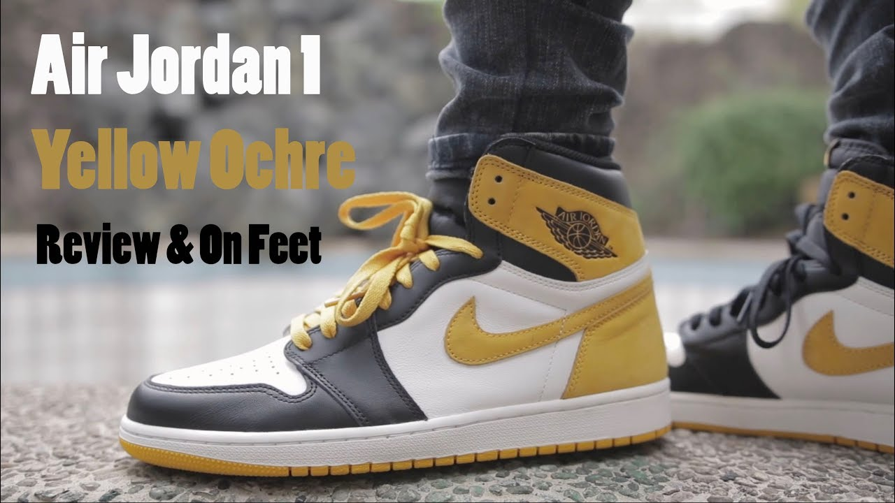 Air Jordan 1 Yellow Ochre Review   On Feet - YouTube c88f7a6d4