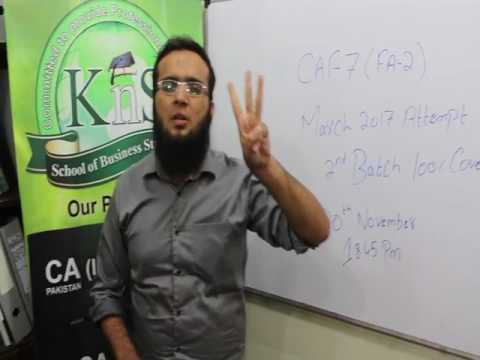 A Message by Sir Hassan Khanani for all CA CAF-7 FA-2 Students