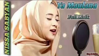 Ya Maulana by Nissa Sabyan || Full Lirik || Top Trending Sholawat 2018