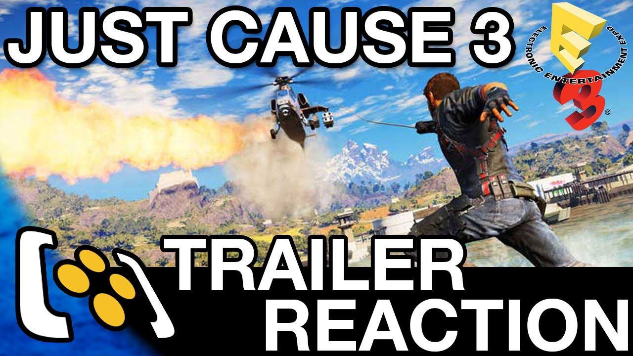 just cause 3 gameplay trailer reaction e3 2015 ps4. Black Bedroom Furniture Sets. Home Design Ideas