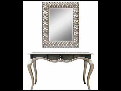Mesitas elegantes con espejos cuadrados y ovalados youtube for Conforama espejos de pared