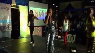 Habida Perfoming 'Mimi na Wewe' at Zuku University Basketball League (ZUBL)