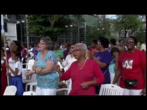 18 04 2017 Paasdienst op Onafhankelijkheidsplein