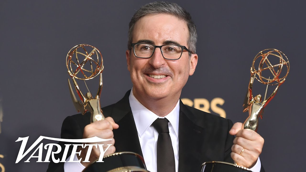 Download John Oliver Celebrates Double Emmy Wins for 'Last Week Tonight'