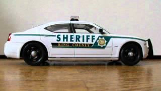 1/18 King County Sheriff WA Dodge Charger Custom Dodge Charger W/ Lights Police