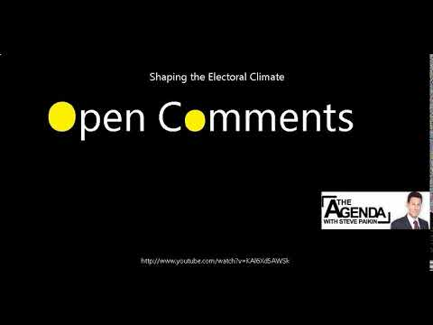 Download Open Comments - The Agenda - Shaping the Electoral Climate