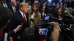 Donald Trump and reporter clash