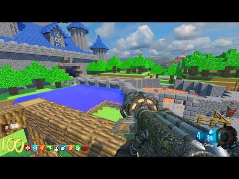 HUGE MINECRAFT ZOMBIES MOD! BLACK OPS 3 CUSTOM ZOMBIES MAP GAMEPLAY (BO3 Zombies)