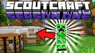 The fallen sheep in the hermitcraft server for smaller youtubers, Scoutcraft S1E19